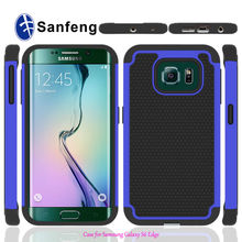 High Quality PC + Silicone+TPU Combo Football Skin Phone Cases For Samsung Galaxy S6 Edge
