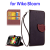 mobile accessories display leather mobile flip case for Wiko Bloom