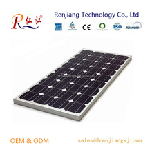 2015 High Efficiency 156mmx104mm Monocrystalline Solar Cell A Grade 100W