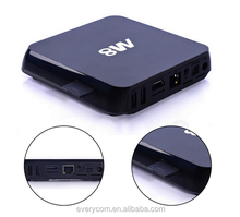 Android 4.4 Quad core android tv box remote control, external tv tuner box wifi, android 4.2 tv box webcam with skype