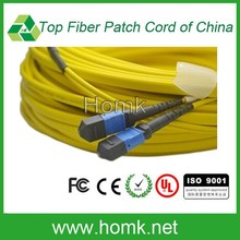 MTP blue connector Single Mode flat Cable Optical Fiber Patch Cord