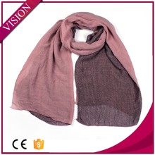 2015 knitting scarf pashmina,two-sided different colors