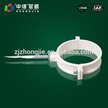 Todos los accesorios de tubería de pvc tamaños soporte de abrazadera