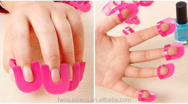 nail art gel model protector soaker clip.jpg