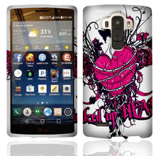 hot photo phone case for LG G4, two pieces PC cell phone case, with butterfly design