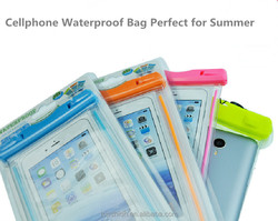 Universal Fluorescent Mobile Phone Waterproof Bag Case, for Samsung galaxy s6 waterproof bag pvc material