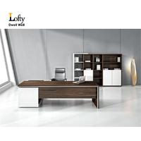 Modern large executive wooden office desk for sale