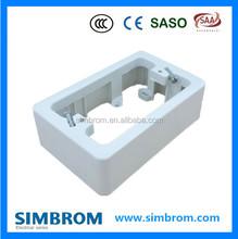Surface mounted Australia electrical wall switch bottom flush box 118*74*34mm PC
