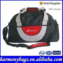 Best selling black 600D polyester large sports bag