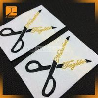 supply black paper Garment woven label for suit