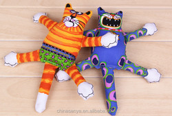 The new blue and yellow cat pet toys educational toys dog bite resistant wear-resistant grip dog toys