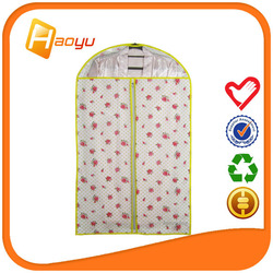 Green fashion non woven dress cover bag for garment bag