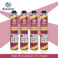 Trade assurance fire retardant 750ml pu foam for timber