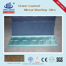 Buliding materials red stone-coated metal roof tiles,high quality but low price