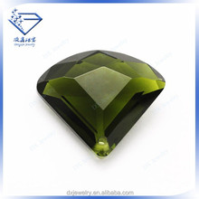 Accessory jewelry olive fan shape cubic zirconia stones price