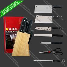 8 sets de acero inoxidable cuchillos de cocina juegos
