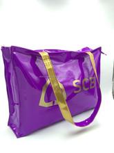 2015 best sell purple PVC lamination shopping bag/tote bag