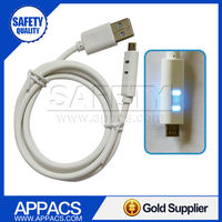 High quality durable led light micro usb cell phone charger cables