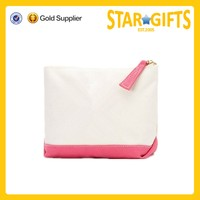 Wholesale custom recycled cosmetic bag small canvas zipper bag cosmetic pouch bag