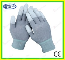 coated cut resistant glove Thoughtful good service concept safety glove