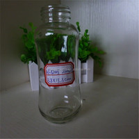 9 oz trumpet shaped glass bottle for soft drink