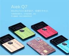 Original AiEK Q7 Mini Mobile Phone Ultra-thin Card Pocket Cool Small Phones Bletooth FM Dialer Russian PK AEKU M5 I6 X6 Qmart Q1
