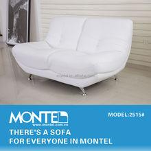 Genuine Leather furniture sofa white 2515