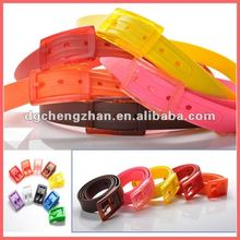 Different colorful colors silicone belts 2012