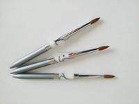 Factory Directly Pure kolinsky Round Shape Acrylic Nail Brush #10