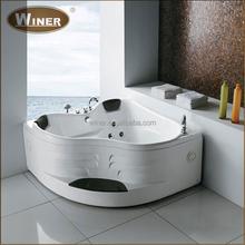 2015 Freestanding massage whirlpool acrylic indoor portable bathtub for adults