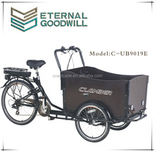 36V 9Ah bisiklet family cargobikes electric cargo bike/cargobike/bakfiets UB9019E trikes