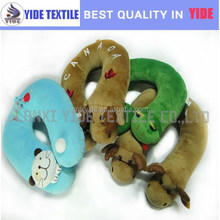 personalized 3D animal design 100% polyester fiber filling U shape neck Pillow travel pillow