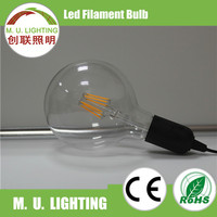 Newest energy saving globe shape G80 led filament bulb light