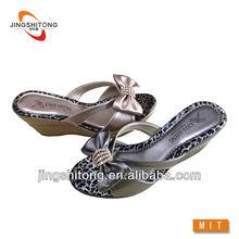 sexy leopardo de impresión del arco zapatillas zapatos de las mujeres 2014