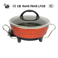 SUPER POWER 1500W ELECTRIC HOT POT WITH DIVIDER and THERMOSTAT CONTROL