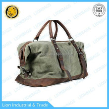leather canvas bag genuine leather bag