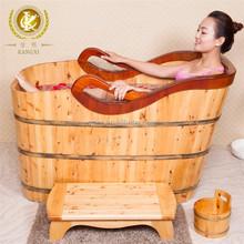 Kangxi cheap massage bathtub , wooden bathtub with seats