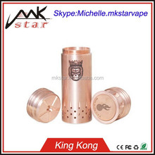 2015 Most Popular High Quality 1:1 Clone King kong Mechanical Mod Clone Copper 26650 King kong Mod With Fast Delivery