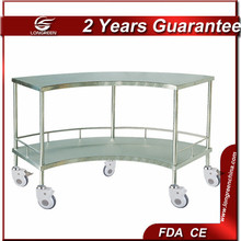 LG-ST003 medical trolley SS Fan-Shaped Operation Apparatus Table