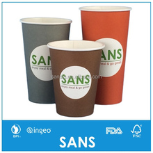 SANS 4 6 8 10 12 16 20 24oz Hot Drink Single Ripple Double Wall Disposable Paper Cups for Coffee