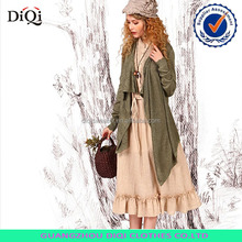 green long cardigan poncho with lace for ladies beautiful sweater