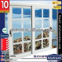 aluminium sliding door with decorative grills