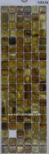 AD138 15x15mm fantasy color amber glass mosaic