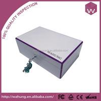 Elegant White Wood Jewelry Box Holder & Jewel Locking Cosmetic Box For Jewellery Gift
