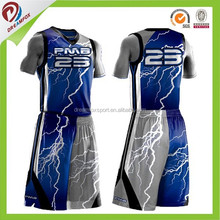 mens both sides wear 100% polyester sample basketball uniform design