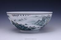 Ornamental floor vase China Famous Master Work Hand Painted Underglazed Porcelain decorative bowl