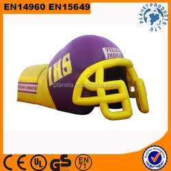 HOT!! Customized Commercial Outdoor Sport Inflatable Player Helmet