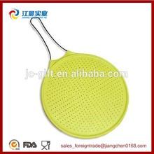 largo de acero inoxidable con mango de calidad alimentaria de colador de silicona