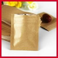High Quality 6cm*8cm*140mic Foil Lined Kraft Paper Coffee Bean Bags Small Zipper Pouch Heat Seal Bags