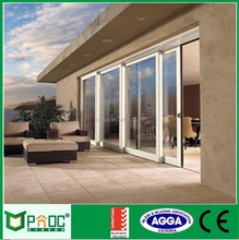 Sliding Open Style and Interior Position Aluminium House Door PNOC0052SD